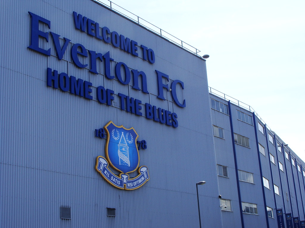 Outside Everton Football ground