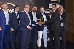 The Al Othaim team collect their award for Best FEC