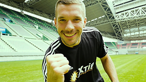 Podolski new face of XTip betting