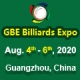 Guangzhou International Billiards Exhibition - GBE 2020