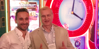 Nabil Kassim, CEO at WoG and Magic Play's Dominik Glowacki