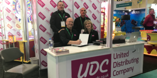 The UDC booth staffed by Mark Horwood, Nicci Rudd, Paul Moriarty and Albert Rodrigues
